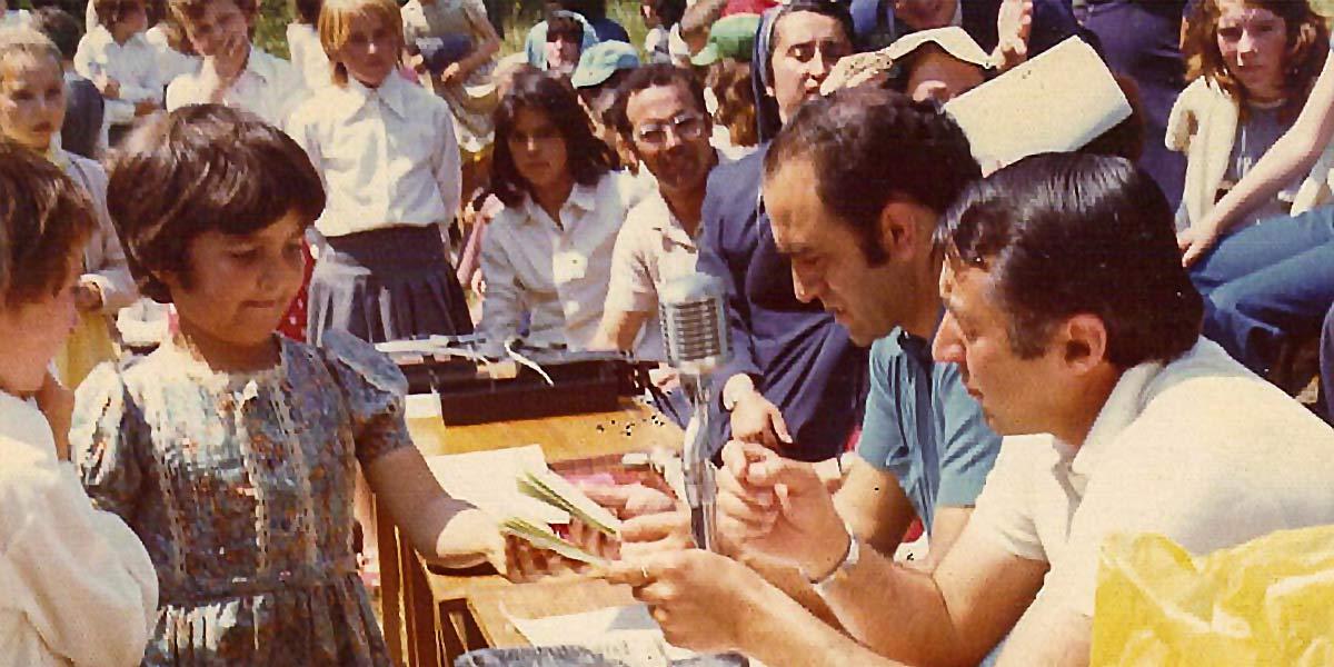 Ramón D. Raña e o alcalde Secada nun acto público