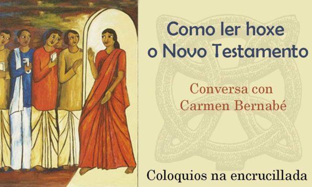 """<div class=""""titulo_partido""""><span>Irimia en lila.</span></div> O Novo Testamento con Carme Bernabé"""